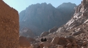 Fr John McGuckin &amp; Dr Norris Chumley at the foot of Mt Sinai